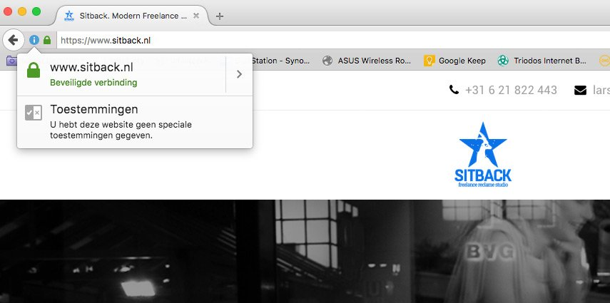 Sitback.nl Draait Nu Onder HTTPS, De Beveiligde Variant Van HTTP