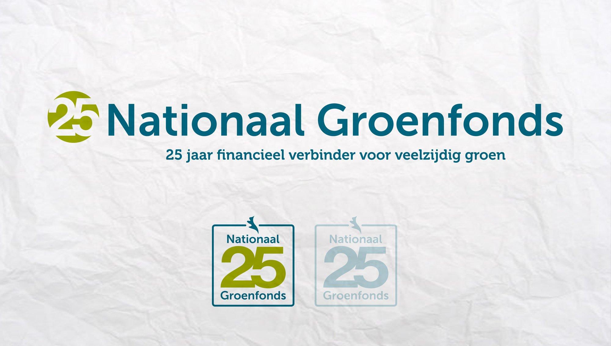 Sitback Mocht Het 25 Jaar Jubileum Logo Voor Groenfonds Ontwerpen
