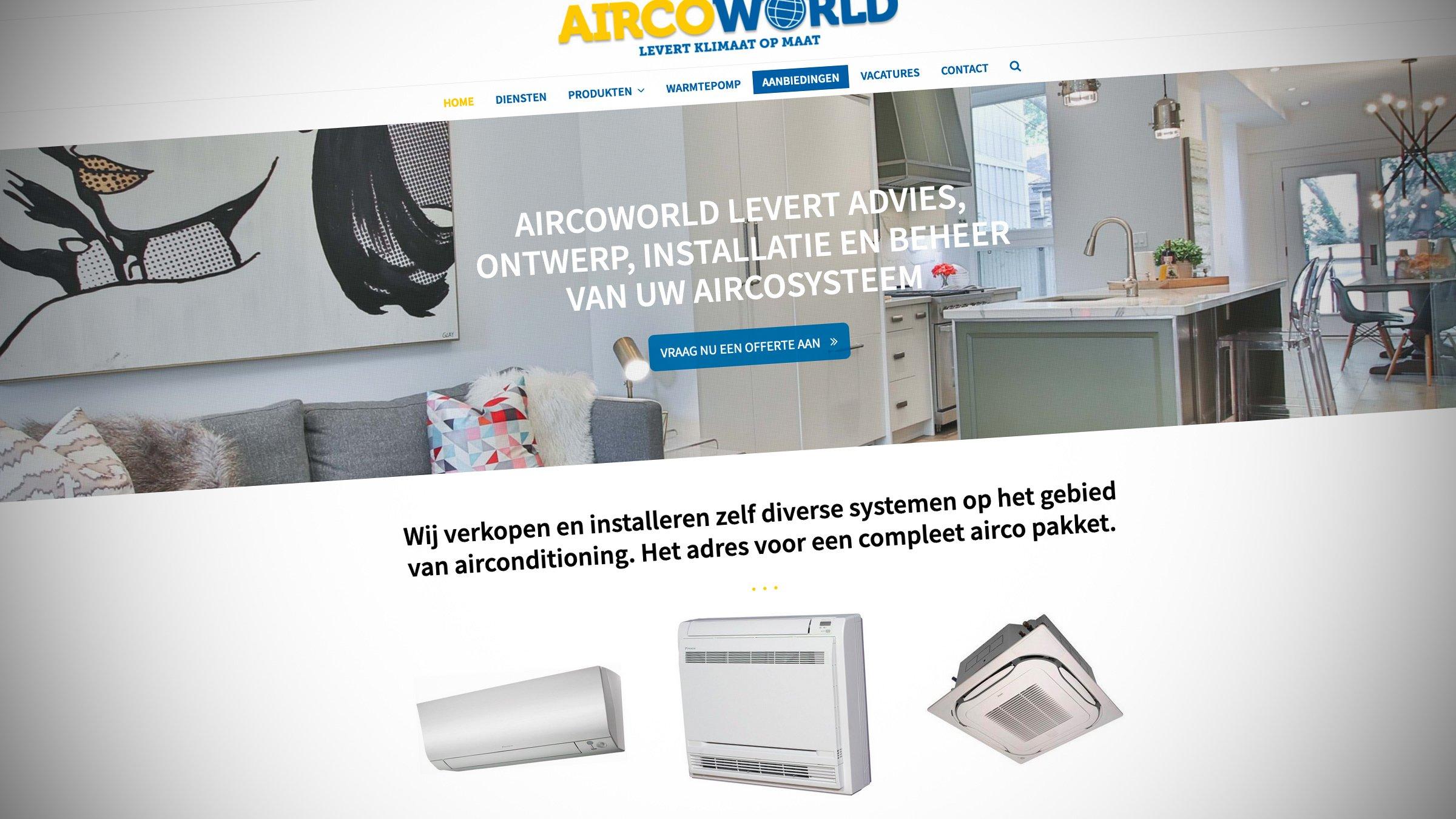 Aircoworld Uit Hilversum Heeft Een Nieuwe Website. Gemaakt Door Sitback